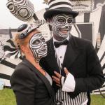 Black and white striped OTTER & ORTET